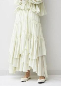 CASA FLINE(カーサフライン)コットンティアードスカート