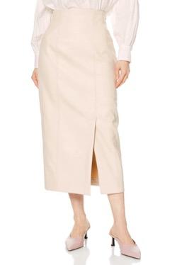 SNIDEL FAUXレザータイトスカート
