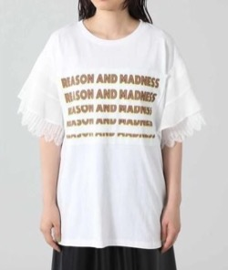 ROSE BUD( ローズ バッド )レーススリーブプリントTシャツ