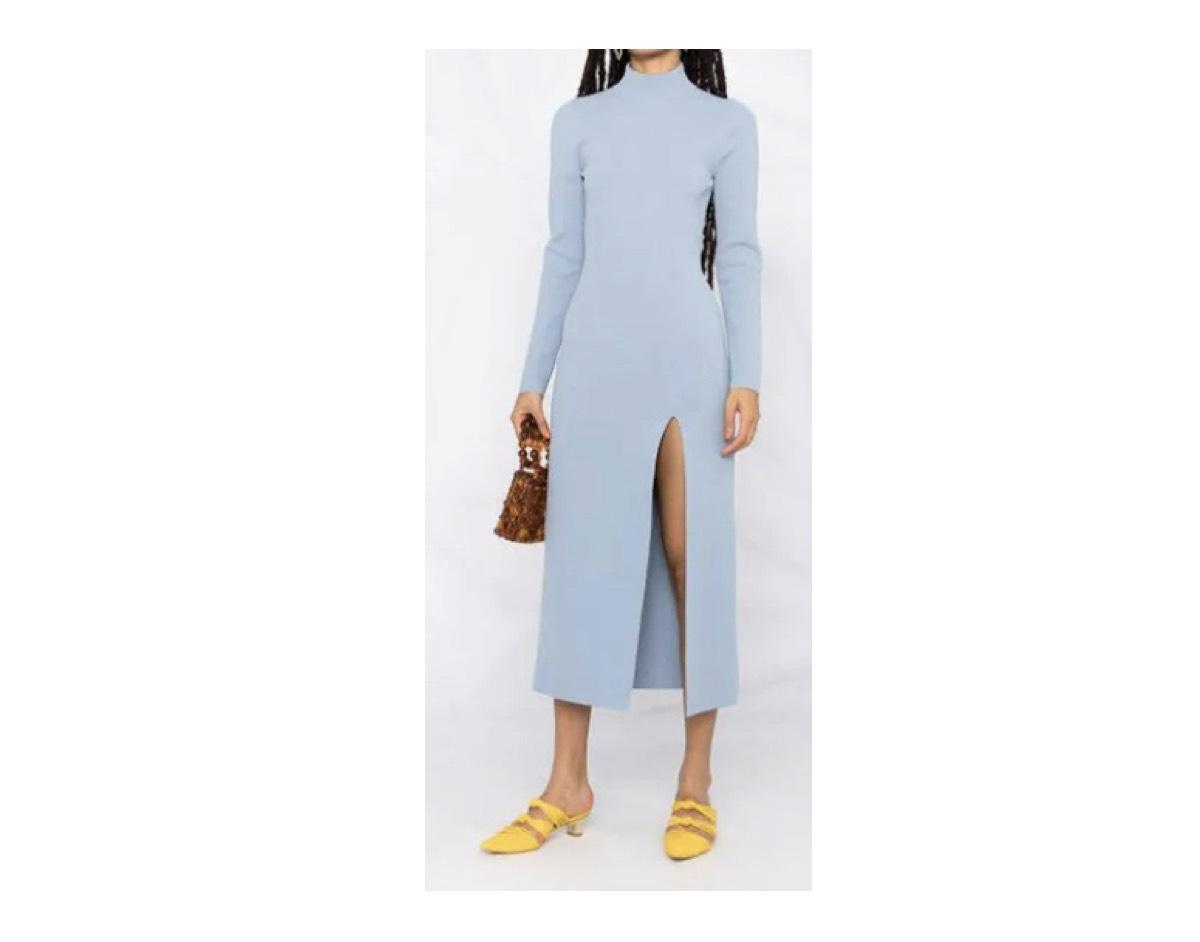 ローラ 衣装【しゃべくり007】着用ファッション(ライトブルーのワンピ)のブランドはこちら♪ローラさんが【しゃべくり007】で着用しているファッション・衣装(服・バッグ・アクセサリー・腕時計・靴など)のブランドやコーデ