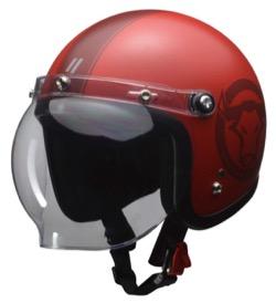 LEAD バイク用ジェットヘルメット MOUSSE 70th アニバーサリーモデル スモーキーレッド フリー