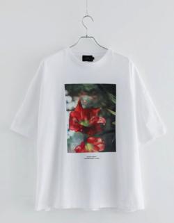 SLICK MVS天竺ドロップショルダープリントTシャツ