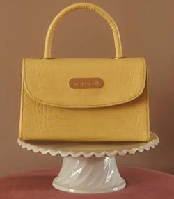 Treat Urself 2way color croco leather bag