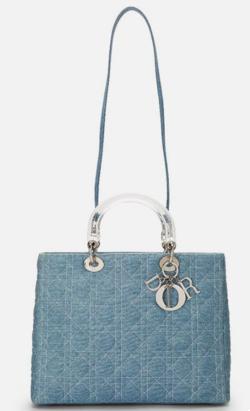 Christian Dior Blue Cannage Denim Lady Dior