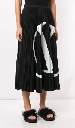 VALENTINO Vロゴ プリーツスカート