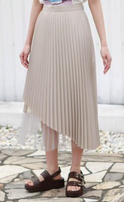 CAST: ベーシックカラー チュールコンビスカート