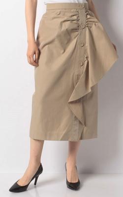 CherieMona アシメドレープボタンスカート