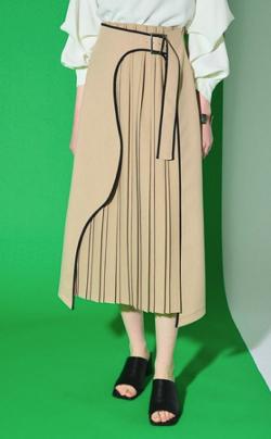 UNITED TOKYO アートカットプリーツスカート