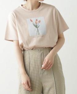 Ray Cassin チューリッププリントTシャツ