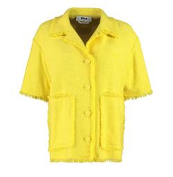 MSGM Cotton Blend Tweed Jacket
