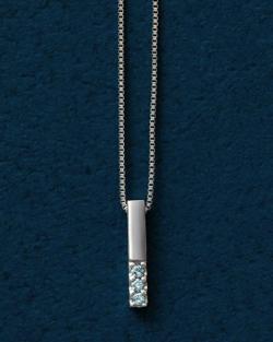 TAKE-UP K10アイスブルーダイヤモンド 3石バーネックレス