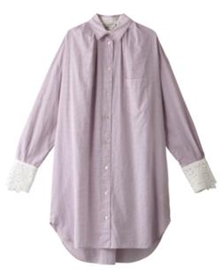 Forte Forte コットン袖刺繍シャツドレス