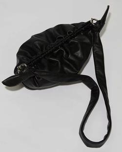 SAMO ONDOH Gnocchi bag M lambskin - black SAMO ONDOH