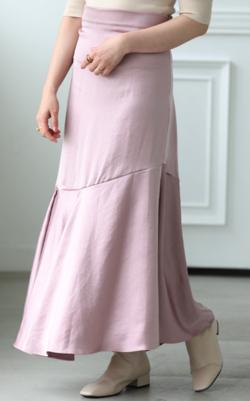 mite(ミテ) サテン編み込みスカート