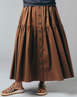 DOUBLE STANDARD CLOTHING 綿ナイロンストレッチスカート