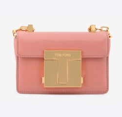 TOM FORD BAGUETTE CHAIN SHOULDER BAG IN GRAINED LEATHER