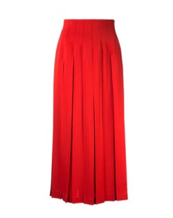 LE CIEL BLEU Box Pleated Skirt In Red