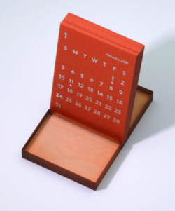'CLARA' Desk Calendar 2021 Orange