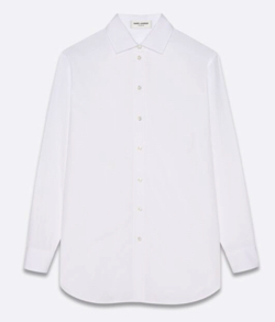SAINT LAURENT オーバーサイズシャツ(コットンポプリン)