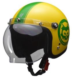 LEAD バイク用ジェットヘルメット MOUSSE 70th アニバーサリーモデル マスタード フリー