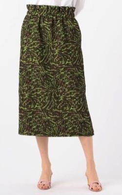 CABaN(キャバン)フローティングジャカード Iラインスカート