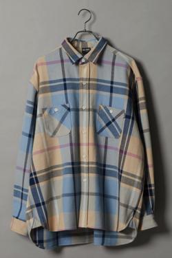 ナイトドクター岸優太 ブルーxベージュのBIGシャツジャケット