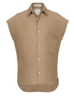 リコカツ・北川景子 ライトブラウンのシャツ