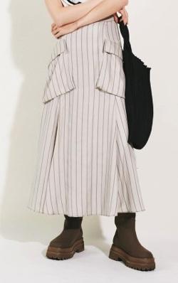 Mila Owen ポケットデザインフレアスカート