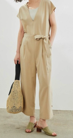 ROPE' PICNIC 裾絞りジャンプスーツ