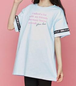 リコカツ・夏野琴子 ライトブルーのロゴTシャツ