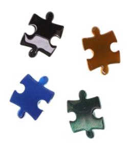 TOGA VIRILIS(トーガビリリース) puzzle piece Pin