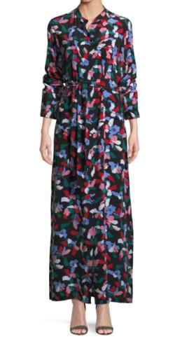 Equipment(エキップモン) Britten Floral-Print Silk Maxi Dress