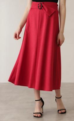PINKY&DIANNE ベルト付きフレアスカート