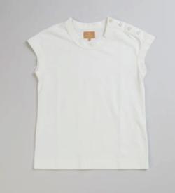 リコカツ・北川景子 ホワイトのフレンチスリーブTシャツ