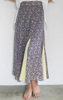 LADYMADE Arabesque Flower フレアスカート