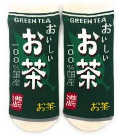 靴下 おもしろ柄 【おいしいお茶】 22-25cm スニーカー丈
