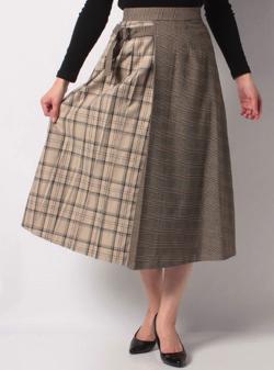 あなたの番です西野七瀬グレージュのコンビプリーツスカート