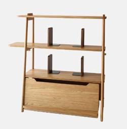 リコカツ インテリア 木製の3段シャルフ