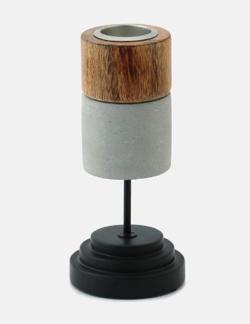 リコカツ インテリア 木製のキャンドルスタンド