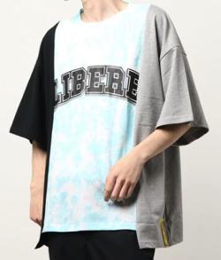 あのキス 田中優太郎役の窪塚愛流 ブラックxブルーxグレーのビッグTシャツ