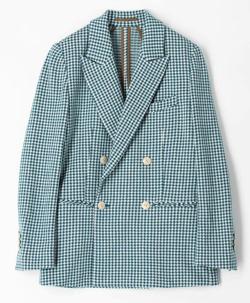 大豆田とわ子と三人の元夫松たか子 グリーンのギンガムチェックジャケット