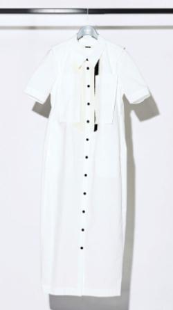 有吉の壁佐藤栞里ホワイトのシャツワンピース