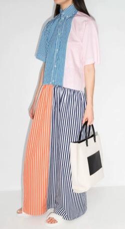PLANC(プランシー)パッチワークマキシシャツドレス