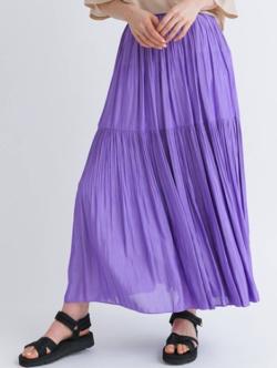 KATHARINE ROSS 2段プリーツ ティアードスカート