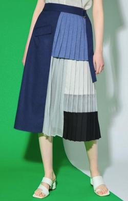 UNITED TOKYO ブロッキングメッシュスカート