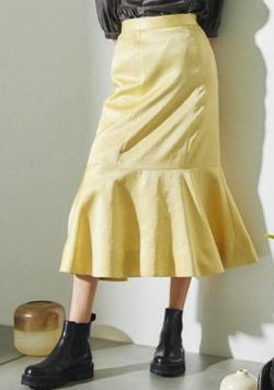 あざとくて何が悪いの?田中みな実 イエローのマーメイドスカート