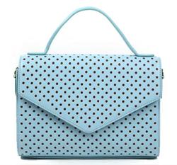 着飾る恋には理由があって川口春奈ライトブルーのドット柄バッグ
