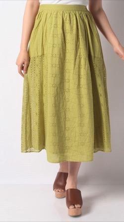 techichi(テチチ)刺繍レースパネル切替スカート