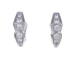 BVLGARI White Gold and Diamond Serpenti Earrings