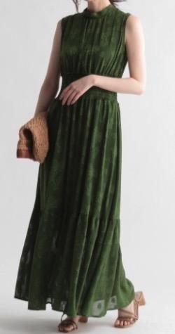 【激レアさんを連れてきた】弘中綾香アナ 衣装(ブラウス・スカート)のブランド(2021/6/21日放送)グリーンのワンピース